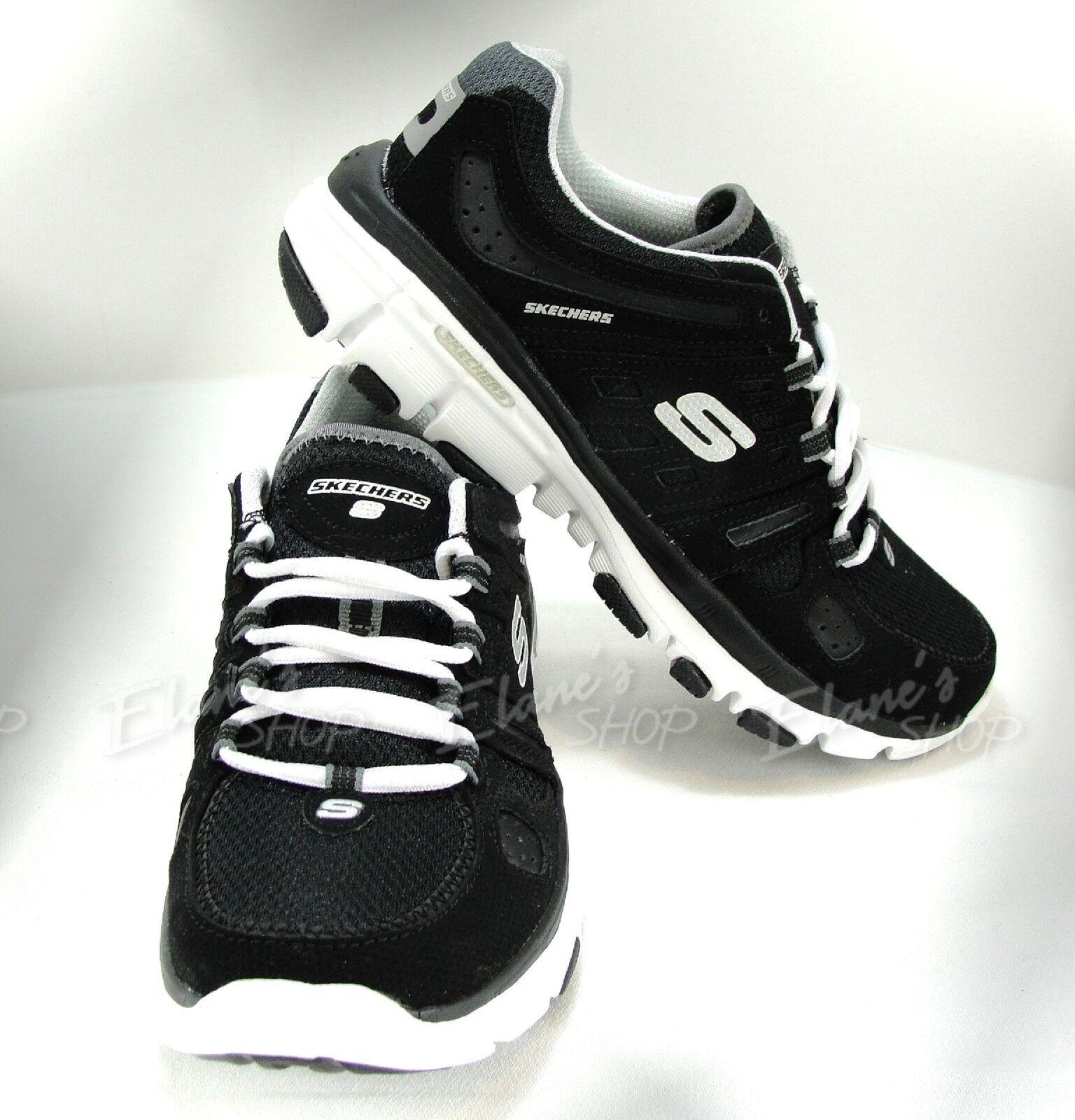 Femmes Skechers 11624R FMB Dalton  BRAVO Photo finition Baskets chaussures noir blanc Nouveau