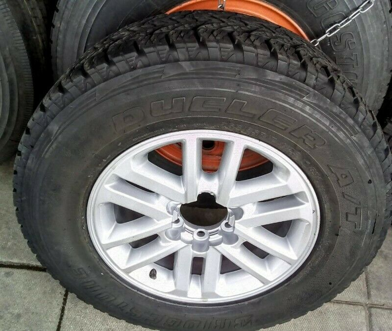 """17"""" Toyota Hilux/Fortuner original mag with used 265/65/17 tyre to use for spare R1800."""
