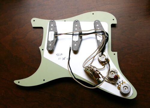 New Fender Loaded Strat Pickguard Custom Shop Abby White on White Pearl USA