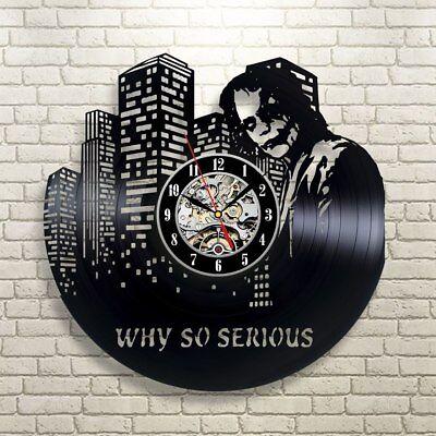 Joker Mad House Vinyl Record Wall Clock Fan Art  Home Decor Vinyl Сlock 466