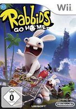 Nintendo Wii +Wii U RAYMAN RABBIDS GO HOME * DEUTSCH Sehr guter Zustand