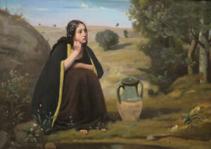 Rebecca at the Well Jean-Baptiste Camille Corot Fine Art Print//Poster