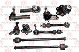 10 Front Suspension /& Steering Tie Rods Kit for 2000-2003 Dodge Durango 2WD