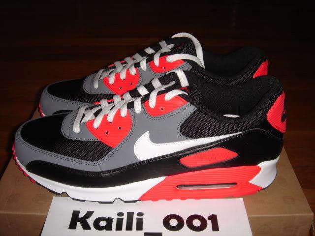 Nike Air Max 90 Classic Reverse Infrared Powerwall OG 1 B Cheap women's shoes women's shoes