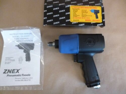 """1/2"""" DRIVE PNEUMATIC IMPACT WRENCH - HIGH TORQUE 900 FT. LBS. TWIN HAMMER 90 Psi"""