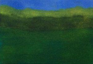 GREEN-VALLEY-LANDSCAPE-Pen-Ink-ACEO-Painting-2-5x3-5-Julia-Garcia-Art-OOAK-NEW