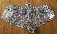 Victoria's Secret Designer Collection 100% Silk Pajama Shorts Size L NWT$54
