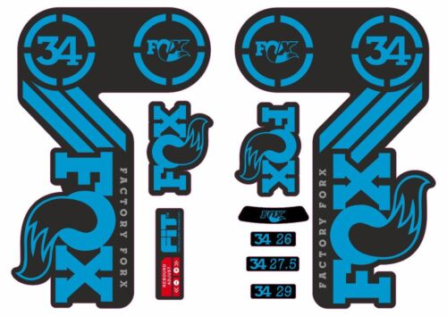 FOX 34 Heritage 2015 Fork Suspension Factory Decal Sticker Adhesive Blue