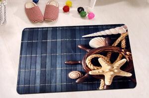 Home-Door-Non-Slip-Bath-Mat-Rug-15X23-034-Kitchen-Bathroom-Shower-Floor-Sea-Shells