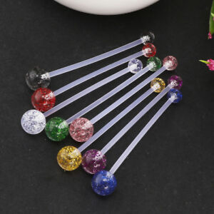 Details About 8pcs Flexible Belly Button Ring Sports Bioflex Belly Retainer Navel Bar 14g