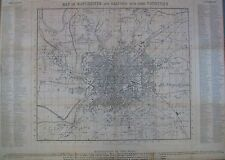 Manchester: an antique town plan by Charles Duffield, 1850