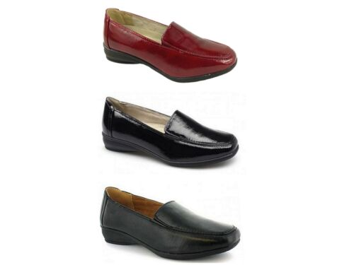 Ladies Dr Keller EEE Wide Fit Leather Lined Casual Loafer Moccasin Work Shoe