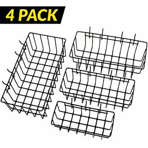 ToolAssort Pegboard Basket Set of 4, Hooks Easily to Arrange Accessories,