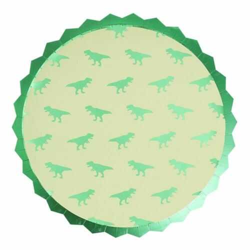 Dinosaur Foiled Paper Party Plates x 8 Birthday Party