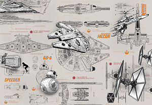 Details About Giant Wall Mural Photo Wallpaper Star Wars Starships Chlildrens Room Paper Decor