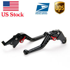 Shorty Black CNC Brake Clutch Levers For Honda CBR500R/CB500F/X (2013 2014 2015)