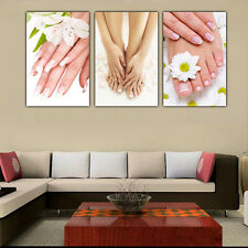 3pc HD Canvas Print Picture Painting Spa Nail Foot Massage Salon Wall Art Decor