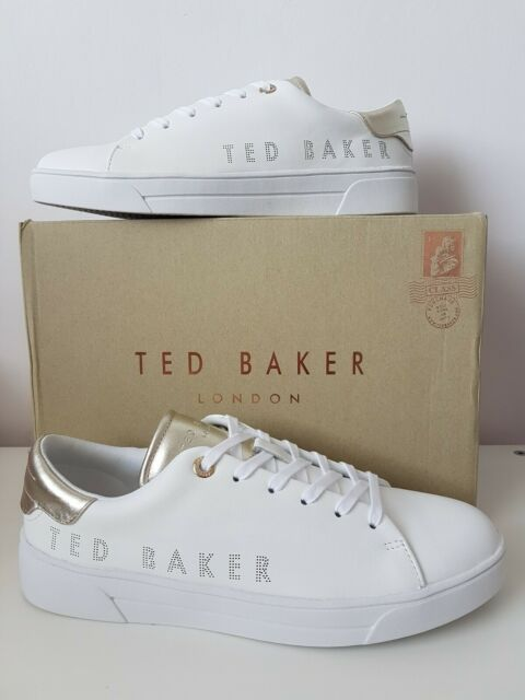 Ted Baker White Leather Kerrim Womens