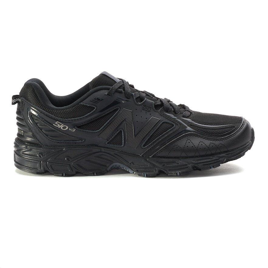 NOUVEAU  Homme New Balance 510 v3 Trail Running Baskets Chaussures Large 4E Noir