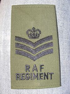 Passant-fourreau-de-grade-poitrine-STAFF-SERGEANT-vert-OD-Royal-Air-Force-RAF