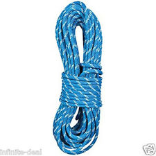 New England KMIII 7/16 x 150' Static Climbing Rescue Caving Rope Polyester Blue