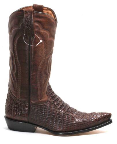 277 Stivali da Cowboy Texas Boots Ricamo Catalano Stile Coccodrillo 38