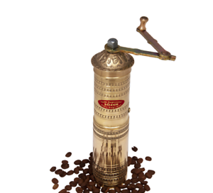 SOZEN Turkish Totally Hand Engraved Coffee Grinder Mill Straight 22cm 9in
