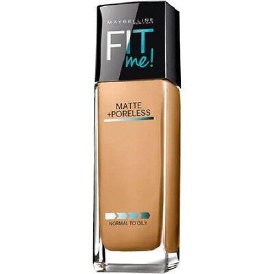 (1) NEW Maybelline Fit Me! Matte Poreless Foundation, You Choose!