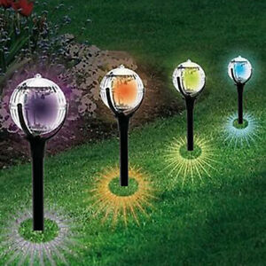 Image Is Loading 2 Pcs Garden Pathway Lights For Outdoor Solar