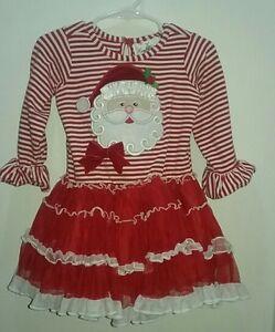 cc8635275811c Rare Editions Santa Christmas Tutu Dress Baby Girl Toddler 24 Months ...