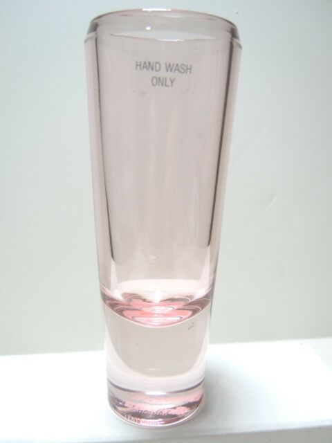 Vera Wang Wedgewood Crystal Vase Or Double Shot Glass Rose Tinted