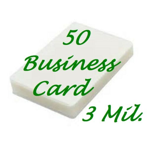 50 Business Card 3 Mil Laminating Pouches Laminator Sheets 2-1//4 x 3-3//4
