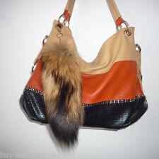Real Large Natural Raccoon Tail Fur Keychain Tassel Bag Tag Charm Handbag Gift