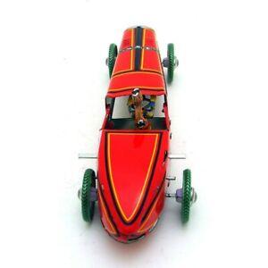 Vintage Vento Up Scatola di Latta Giocattolo Gara Auto Autista Mechanical-Kit