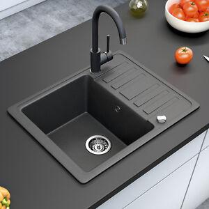 Bergstroem lavello della cucina in granito lavello della cucina 575x460 nero ebay - Lavello cucina nero ...