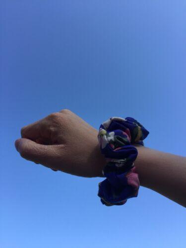 Miss Scrunch-Ems Royal Blue Floral Scrunchie