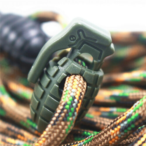 10pcs Grenade Shoelace Buckle Stopper Cord Lock Rope Clamp Outdoor Military