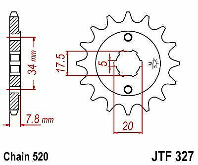 Front Sprocket JTF327 13t fits Honda XL250 S2,3S2 JT