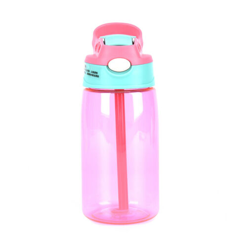 Portable Travel Drinking Cup With Straw Kids Children Leak Proof Water Bottle/_gu