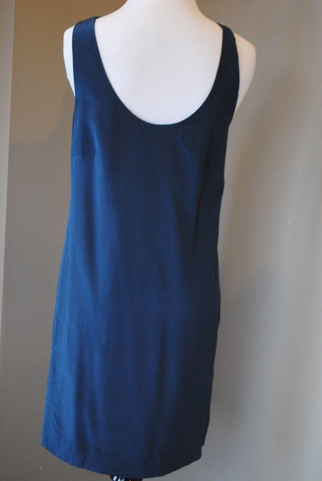 NWT J Crew Twist Back Silk Dress in Night Shadow Blau Sz 2 XS A7548