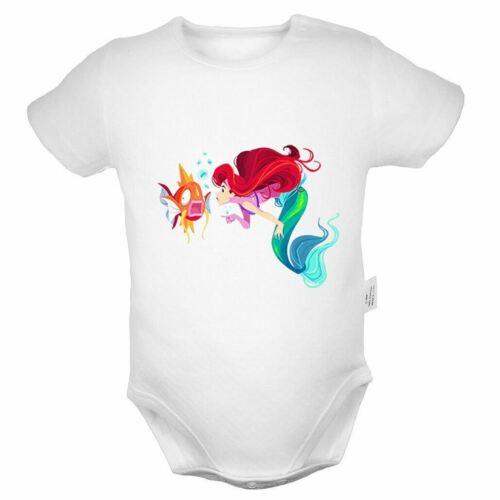 Disney Princess Mermaid Ariel Newborn Jumpsuit Baby Romper Bodysuit Clothes Sets