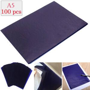 100-Blaetter-Kohlepapier-DIN-A5-Pauspapier-Durchschreibepapier-Schreibmaschine