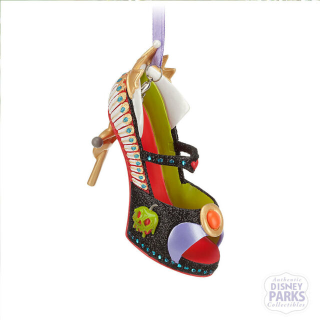 Disney Parks Authentic Snow White Evil Queen Runway Shoe Ornament NEW Christmas