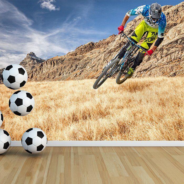 Mountainbike-Rennen Fototapete Extremsport Tapete Radfahren Wohnkultur
