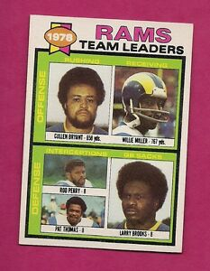 1979-TOPPS-282-RAMS-UNMARKED-TEAM-LEADER-NRMT-CHECKLIST-INV-A3267