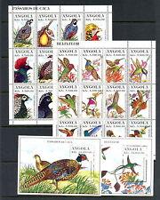 Angola 1996  #957-60  birds   sheets   MNH  H251
