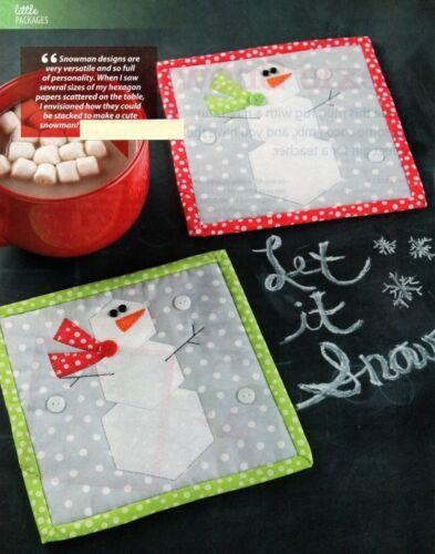 Hexie Snowman Quilt Pattern Pieced//Applique CM