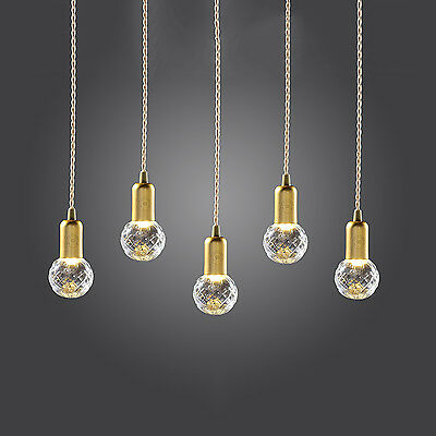 Clear++ Crystal Bulb Vintage Pendant Lights Ceiling Light Downlight