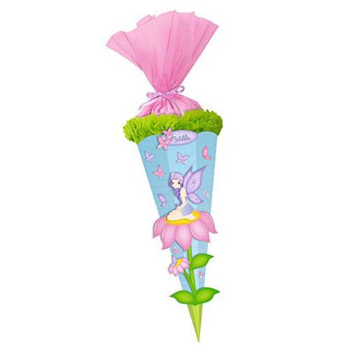 3D Schultüte Bastelset 68cm Einhorn Pegasus Pferd Elfe Zuckertüte Mädchen neu