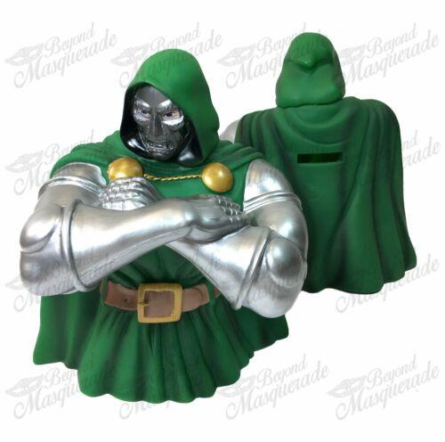 Marvel Dr Doom Superman Figure Statue Bust Licensed Piggy Coin Bank